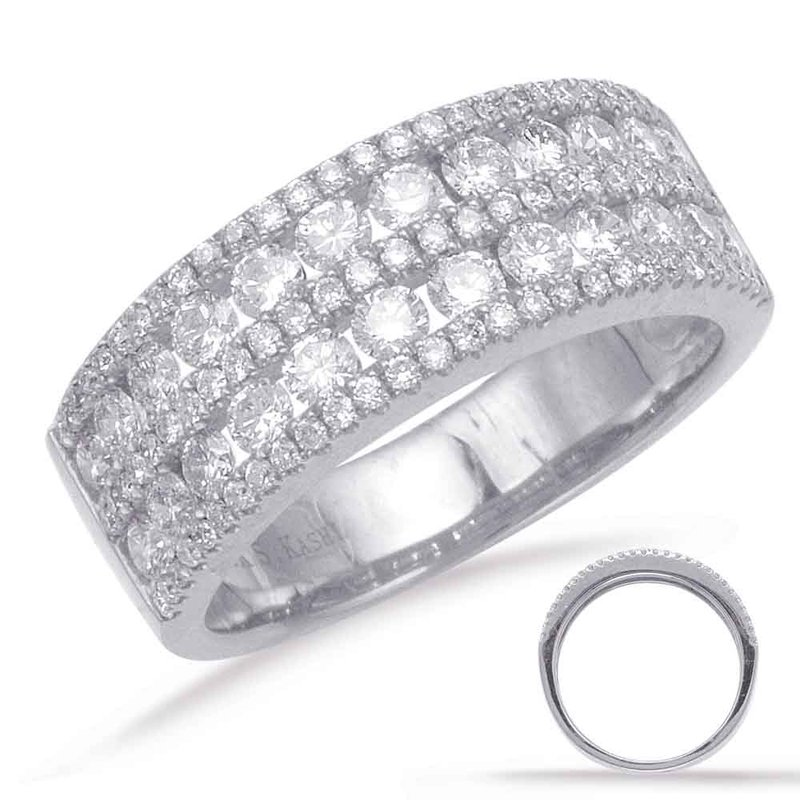 S. Kashi  & Sons Palladium Diamond Band