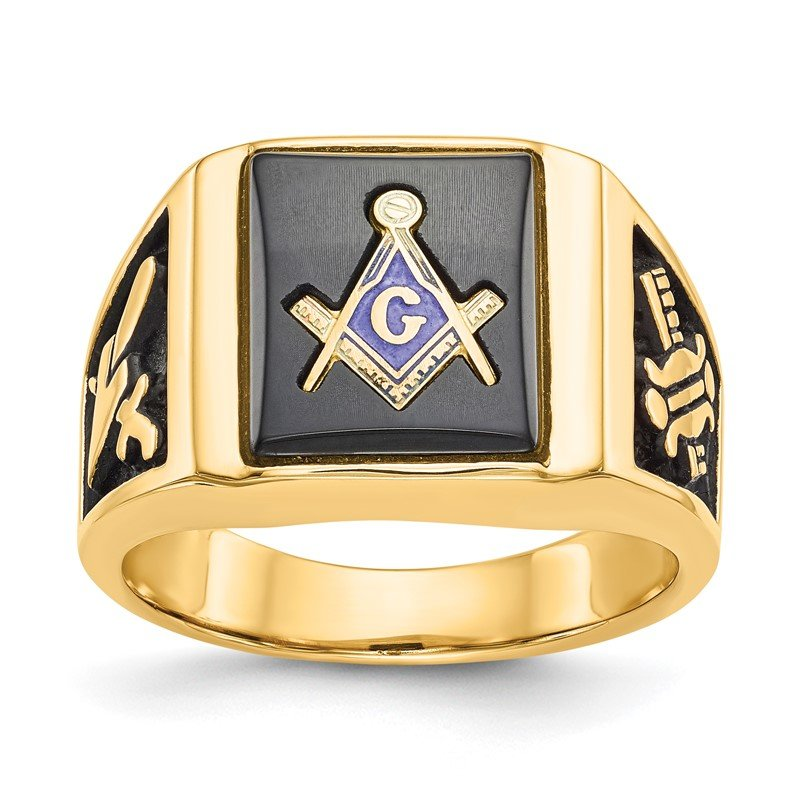 Quality Gold 14k Men's Masonic Ring