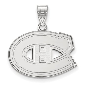 Gold Montreal Canadiens NHL Pendant