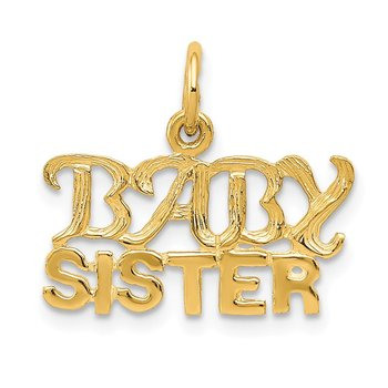 14k Baby Sister Charm