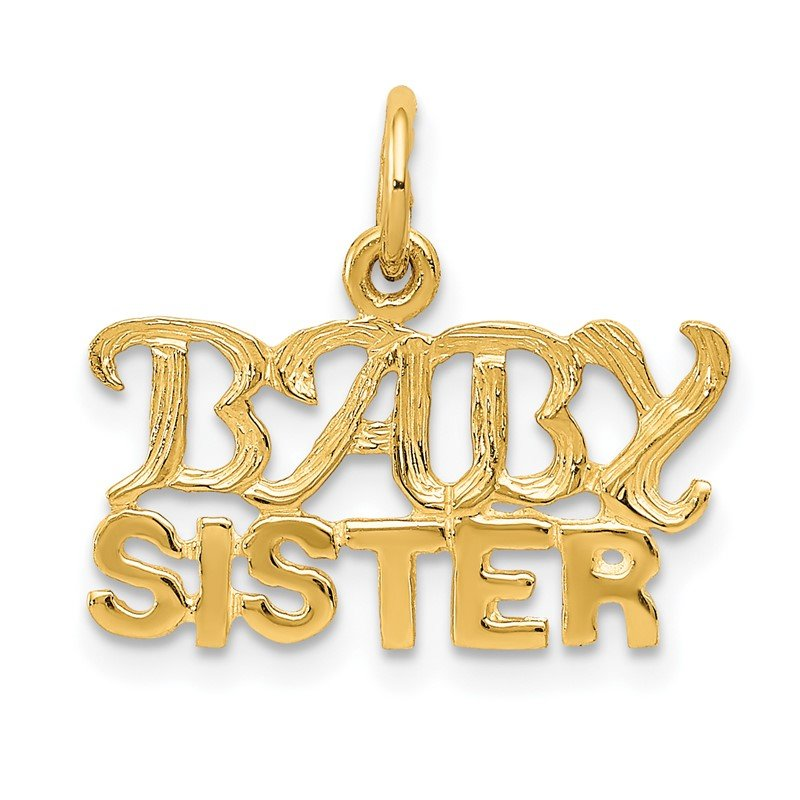 Quality Gold 14k BABY SISTER Charm