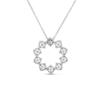 18KT GOLD MEDIUM STARBURST PENDANT WITH DIAMONDS
