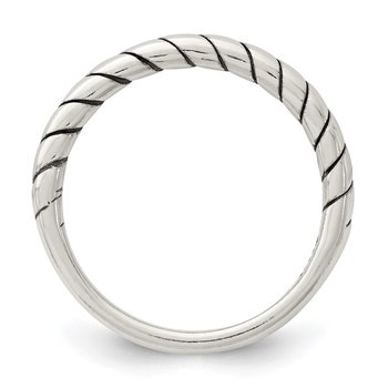 Sterling Silver Stackable Twist Ring