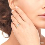 ASHI oval shape lovebright diamond ring