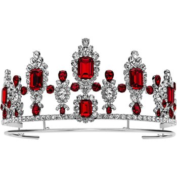Anna Dello Russo Tiara, Red, Palladium plating