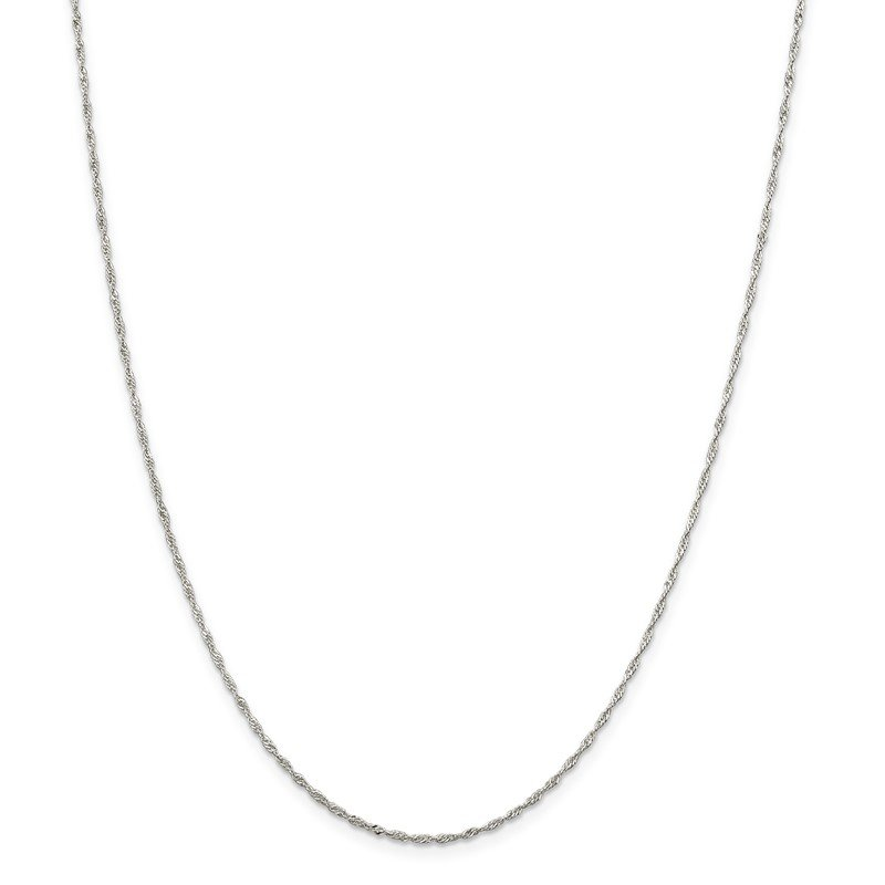 Quality Gold Sterling Silver 1.4mm Singapore Chain