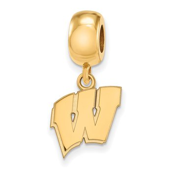 Gold-Plated Sterling Silver University of Wisconsin NCAA Bead
