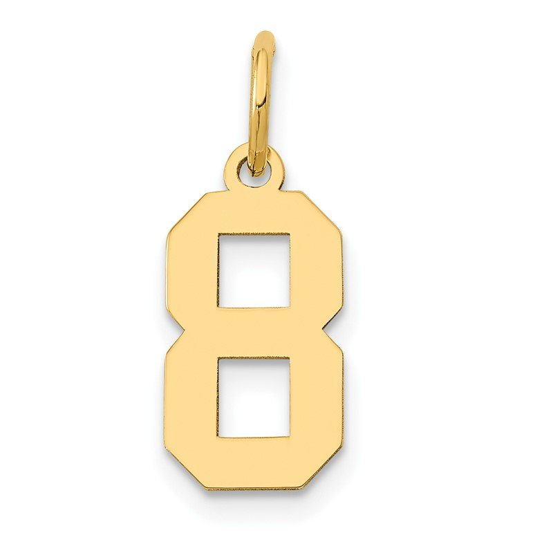 Quality Gold 14k Small Polished Number 8 Charm