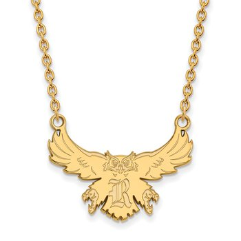 Gold Rice University NCAA Necklace
