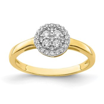 10K Circle CZ Fancy Ring