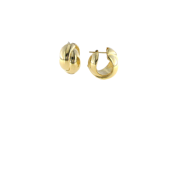 18Kt Gold Twisted Huggies
