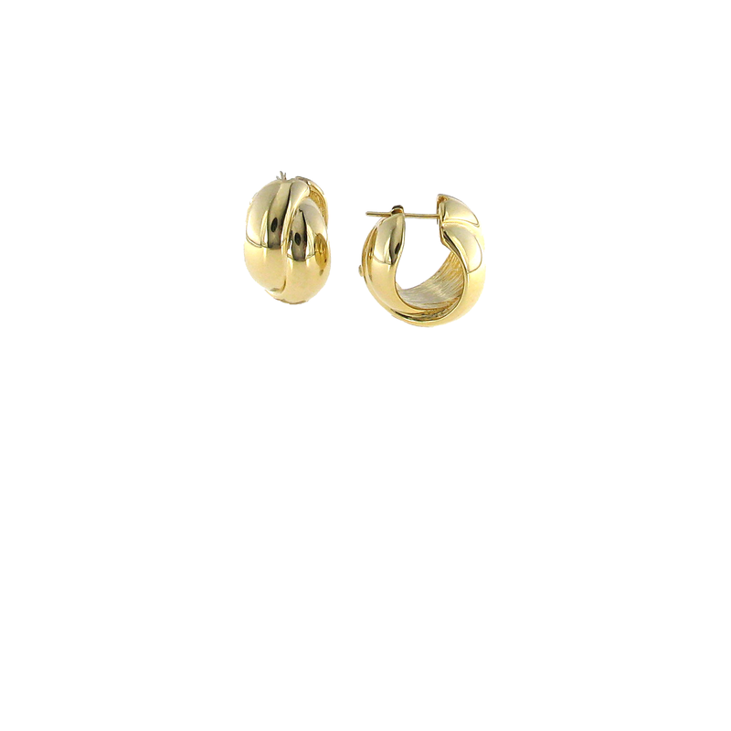 Roberto Coin 18Kt Gold Twisted Huggies
