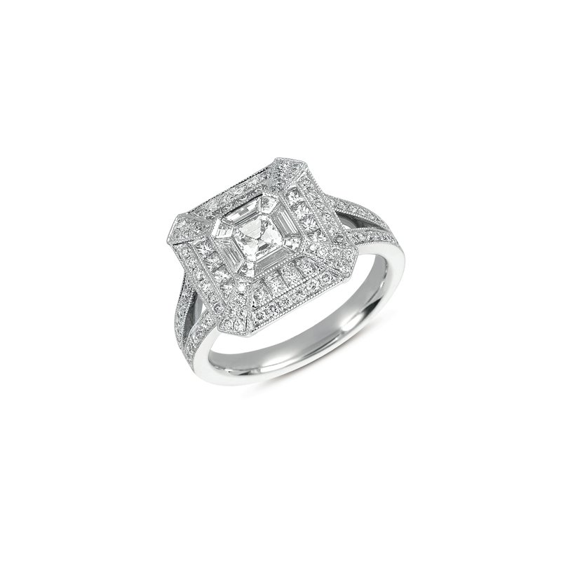 S. Kashi  & Sons White Gold Pave Ring