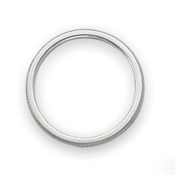 14k White Gold 1.5mm Milgrain Band
