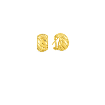 18KT GOLD SHRIMP EARRINGS