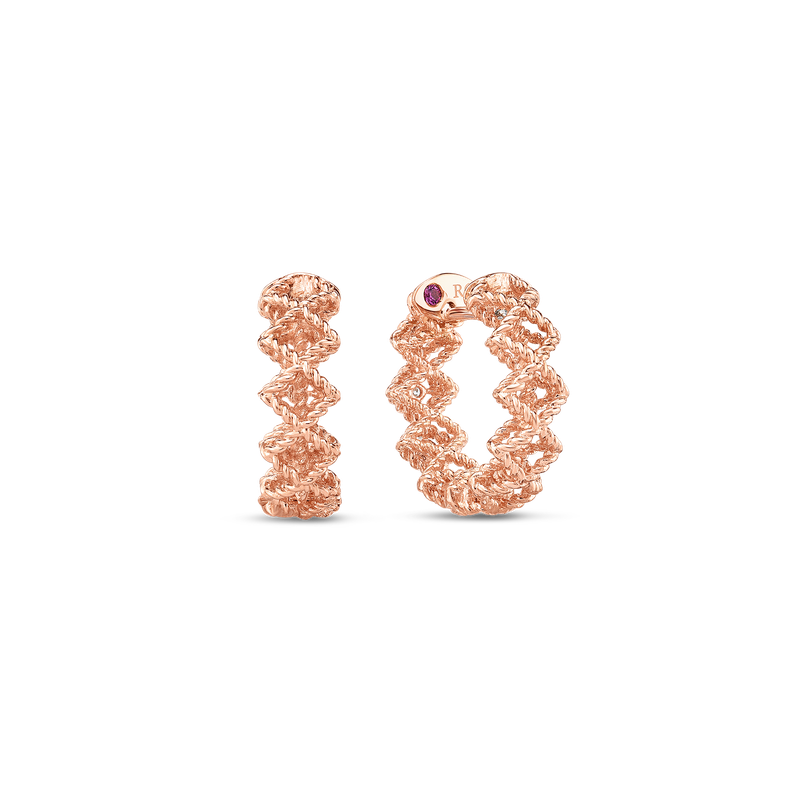 Roberto Coin  #19399 Of Round Diamond Hoop Earring