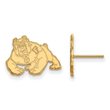 Gold-Plated Sterling Silver California State University Fresno NCAA Earrings