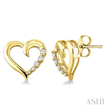 heart shape journey diamond earrings