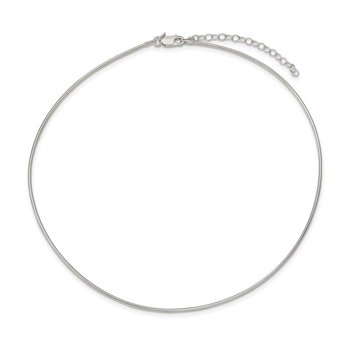Sterling Silver 1.6mm w/ 2in extender Neckwire Chain