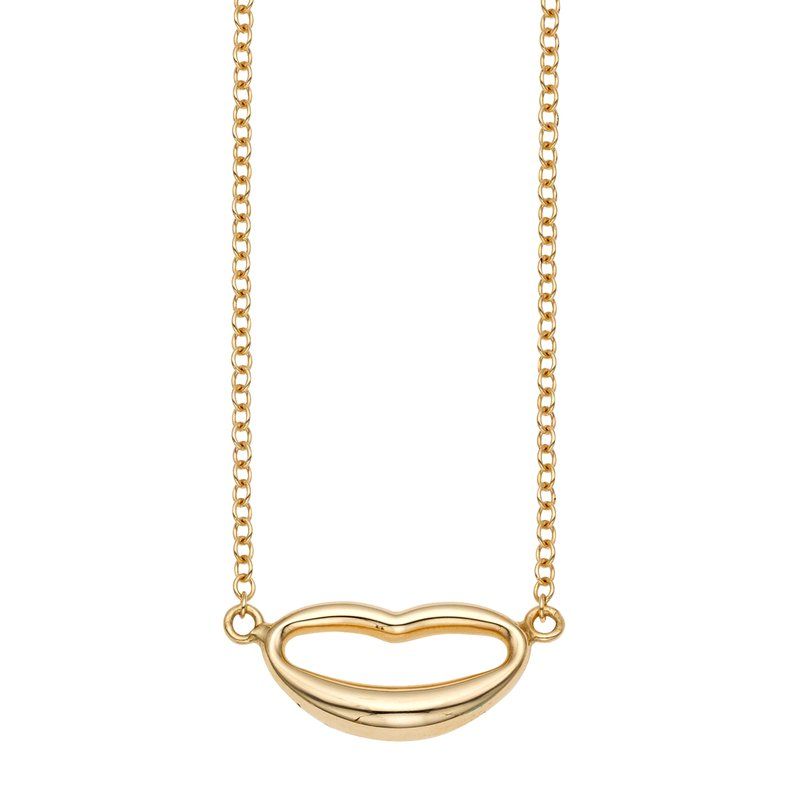 Royal Chain 14K Gold Polished Italian Kiss Necklace