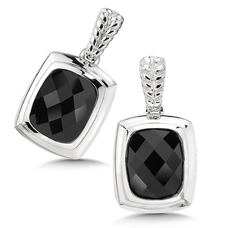 Colore SG Sterling Silver and Onyx Earrings