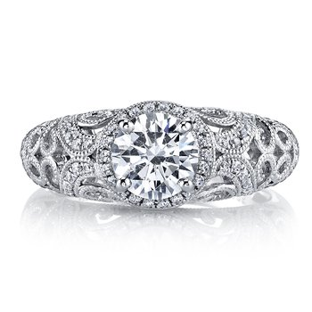 MARS 26258 Diamond Engagement Ring 0.46 Ctw.