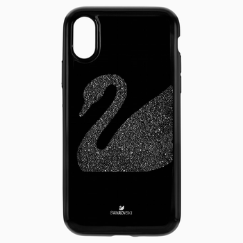 Swan Fabric Smartphone case with integrated Bumper, iPhone® XR, Black