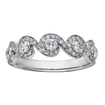 Maple Leaf Diamonds™ Tides of Love™ Ladies Ring