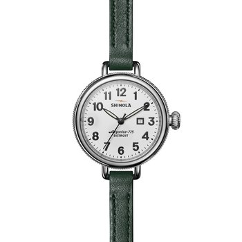 Birdy 3HD 34mm, Emerald Leather Strap