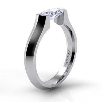 Voltaggio Knife-Edge Marquise Engagement Ring