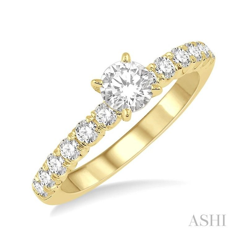 ASHI endless embrace semi-mount diamond engagement ring