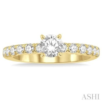 endless embrace semi-mount diamond engagement ring