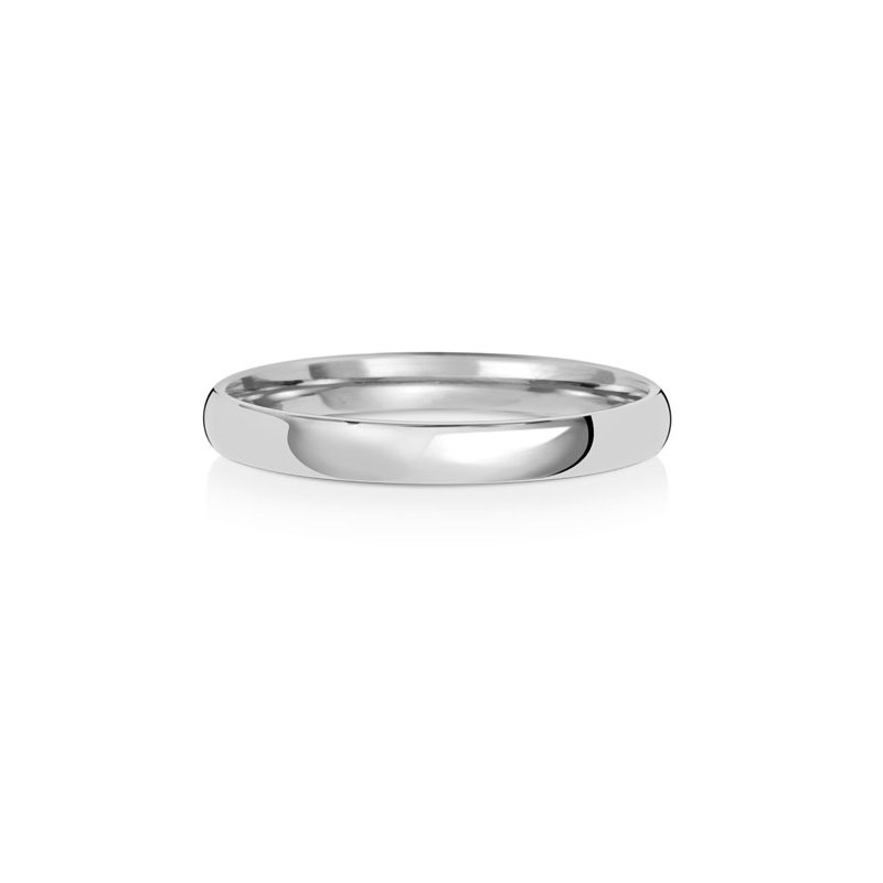 Treasure Platinum 2.5mm Slight Court Wedding Ring