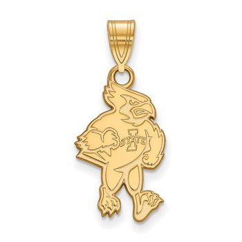 Gold-Plated Sterling Silver Iowa State University NCAA Pendant
