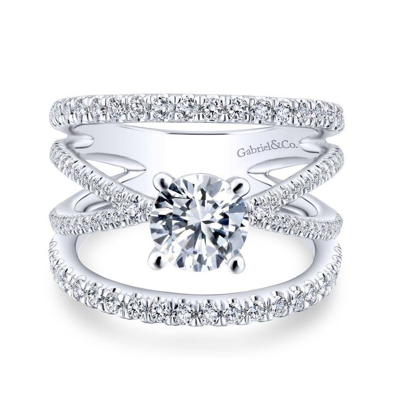 Gabriel  Split Shank Engagement Ring