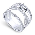 Gabriel & Co. - Bridal Split Shank Engagement Ring