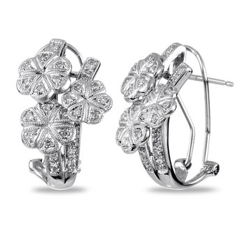 14K WG Diamond Motif Ear-rings