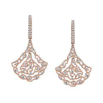 MARS Diamond Drop Earrings 1.17 ctw