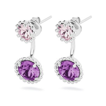 925‰ sterling silver, amethyst and light amethyst Swarovski® Elements crystals.