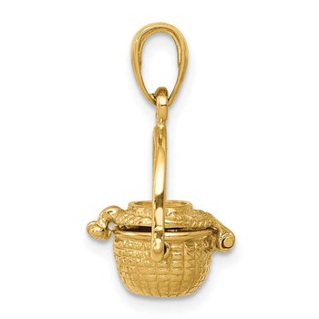 14k 3-D Nantucket Basket Pendant