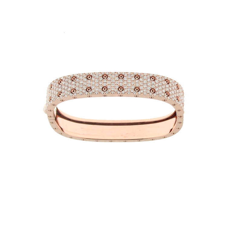 Roberto Coin  #25553 Of 2 Row Pave Diamond Bangle
