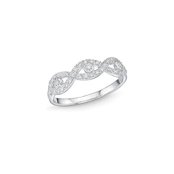 Infinity Motif White Gold & Diamond Stacking Ring