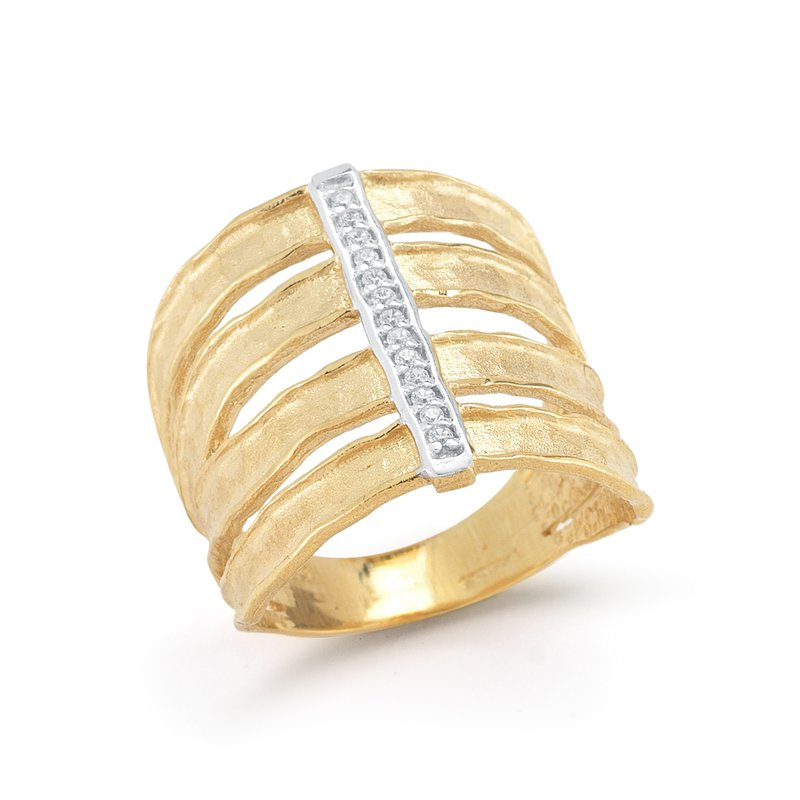 I. Reiss 14K-Y CUT-OUT CUFF RING, 0.10CT