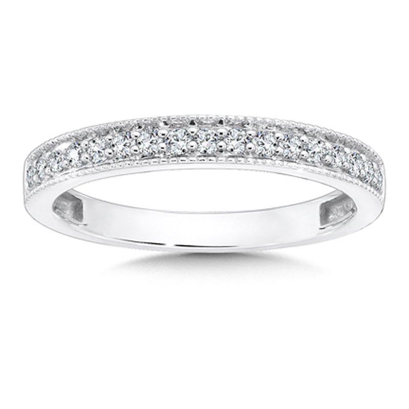 SDC Creations Pave set Diamond Wedding Ring in 14k White Gold (1/4ct. tw.)
