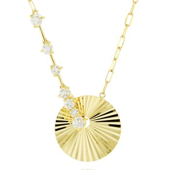 Yellow gold diamond Aura latch necklace