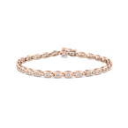 Essentials 14K Rose Gold 1.00 ct White Diamond Tennis Bracelet
