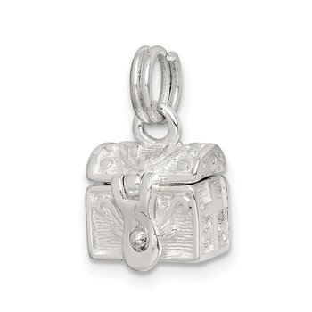 Sterling Silver Cross Prayer Box Charm