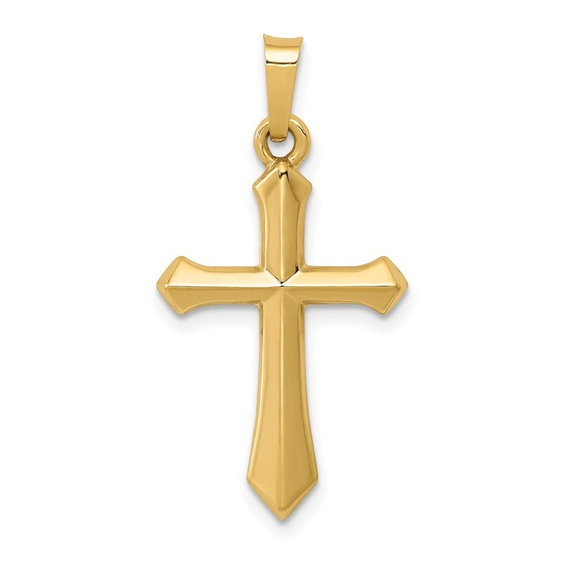 Quality Gold 14k Polished Cross Pendant