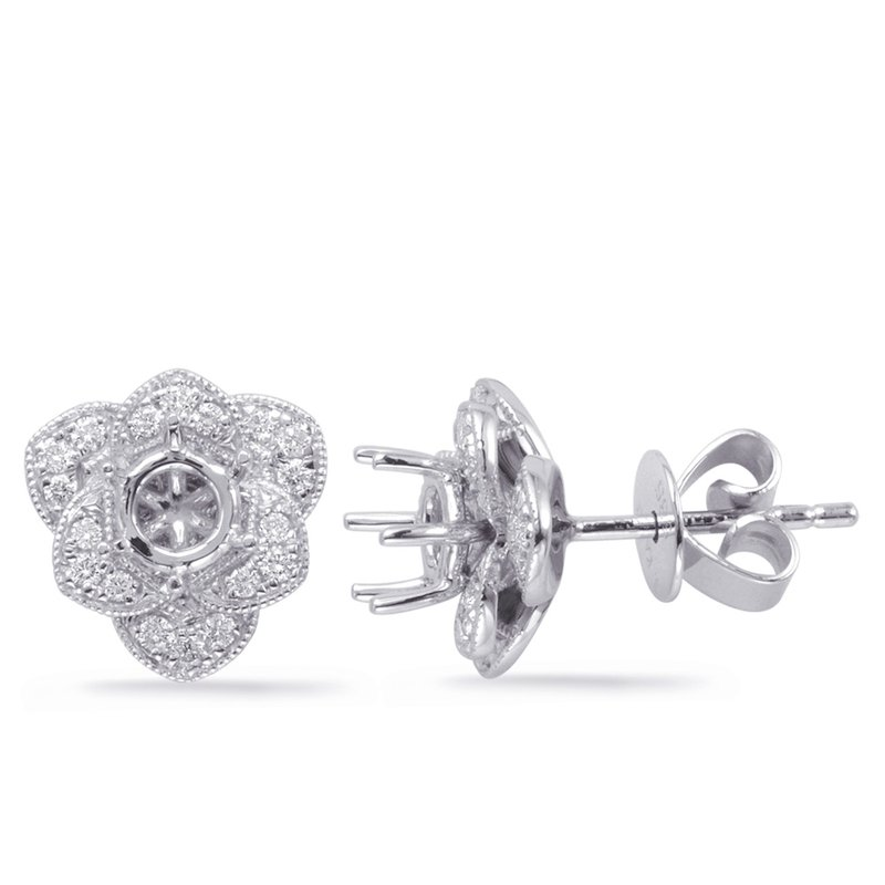 S. Kashi  & Sons White Gold Diamond Earring for 1cttw