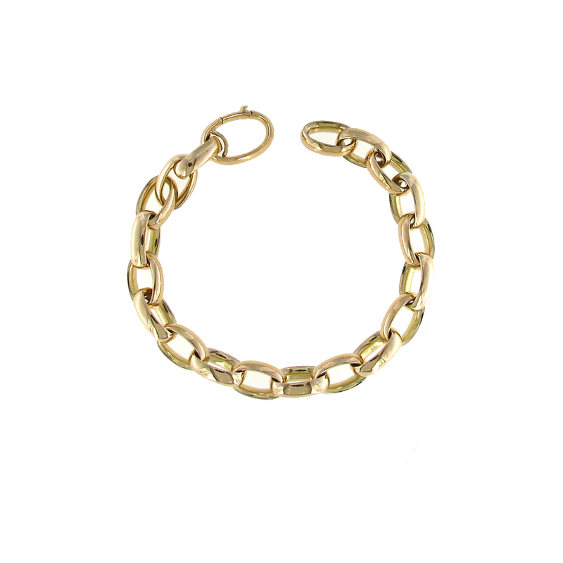 Roberto Coin 18KT YELLOW GOLD LINK BRACELET
